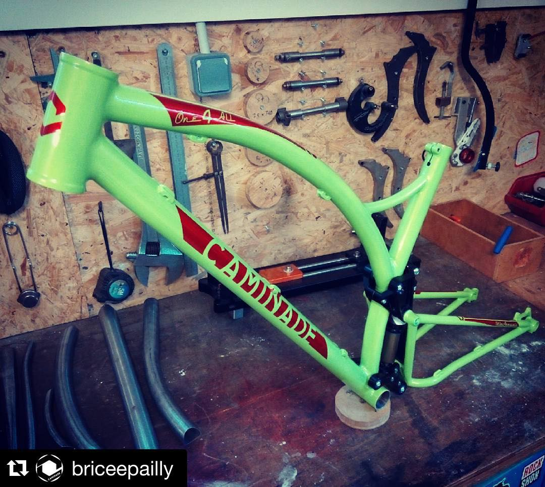 Brève #one4all #happycustomer #handmade #madeinfrance #steelframe #mtb #custompaint
