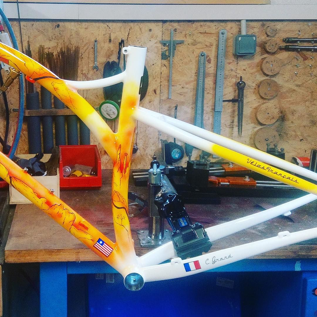 Brève #happycustomer #custompaint #simpletrack #madeinfrance #29er #caminade #steelframe #mtb #bike