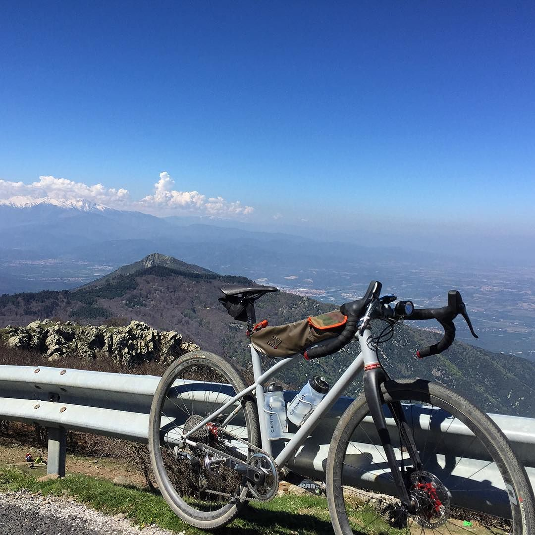 At the top of #neulos summit in #pyreneesorientales , a must for a #gravelbike climb.