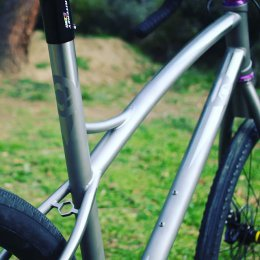 Tailor made titanium gravel bike for a lady.