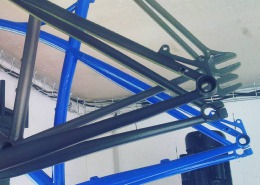 #paintjob black 2100, starlight ti and blue ral5017