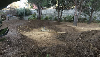 La construction du Pumptrack by Caminade